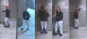 Surveillance photographs of a suspect in a sexual assault case in Boulder, Colorado.