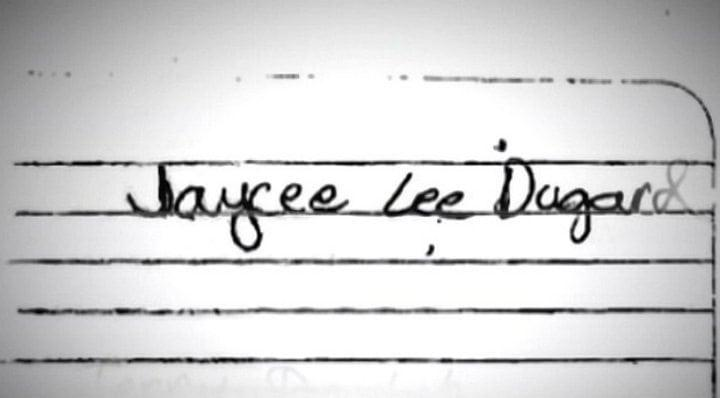 2009, the piece of paper Jaycee Dugard wrote her name on telling police officers who she is. Photo courtesy of NMCO.