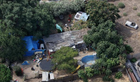 Area behind kidnapper Philip Garrido's home where missing child Jaycee Dugard was found 18 years after her disappearance. Photo courtesy NY Daily News.
