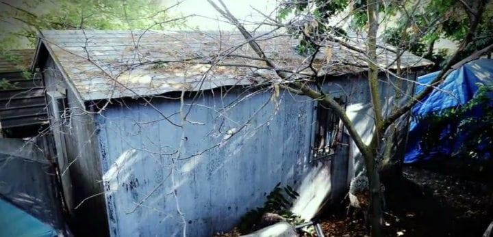 Soundproof shed where missing child Jaycee Dugard was held captive in for 18 years, in Antioch, California. Photo courtesy BBC.
